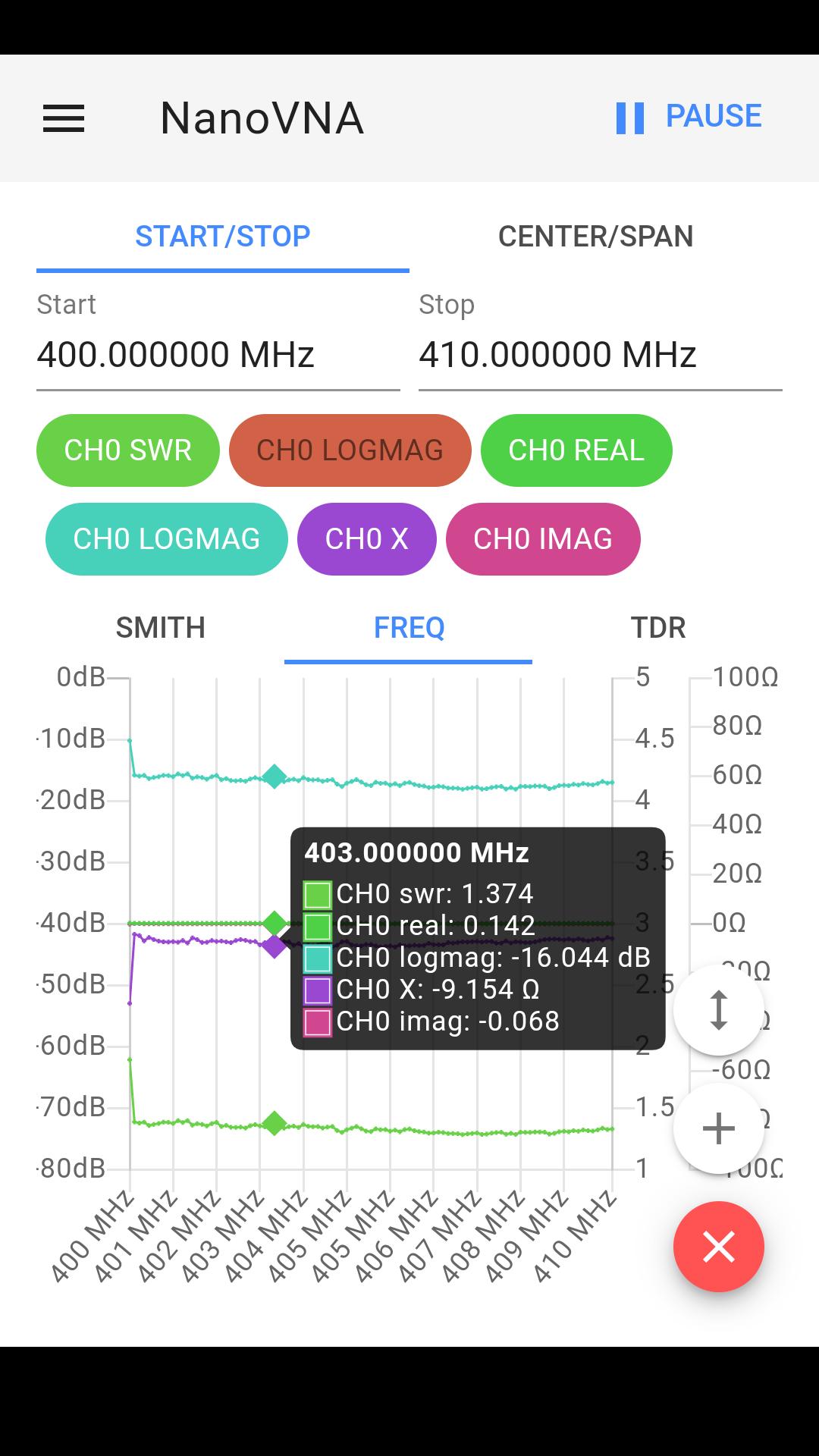 SWR Screenshot + marker